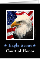 Eagle Scout Court of Honor Invitation - Eagle & Amercan Flag card