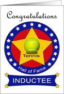Tennis Hall of Fame Induction - Tennis Ball & Stars card