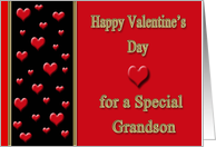 Valentine for Grandson - Hearts card