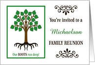Custom Family Reunion Invitation | Family Tree card