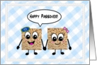 Cute cartoon matzot - Happy Passover card