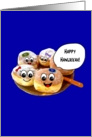 Happy Hanukkah cute happy donuts Jewish holiday card