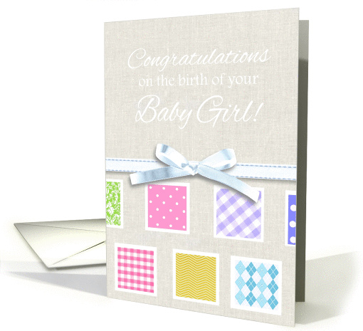 Congratulations on the birth of your baby girl with... (1092058)