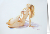 Fine Art Nude Watercolour - Life, Love and Appreciation of a Woman card