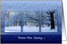 Reaching Far Winter Tree - Happy Holidays from Far Away card