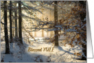 Light Filtering through - Blessed Yule and Happy Winter Solstice card