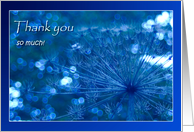 Thank you so much - Sparkling blue Imagination - natural abstract card