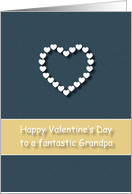 Fantastic Grandpa Blue Tan Heart Valentine's Day card