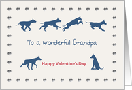 Dogs Hearts Wonderful Grandpa Valentine's Day card