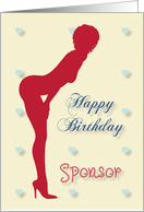 Sexy Pin Up Birthday for Sponsor card