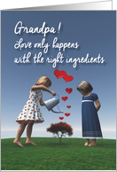 Grandpa Fantasy Girls giving the right ingredients to love Valentine card