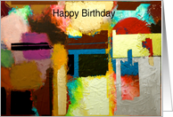 Happy Birthday - Warm Abstract card