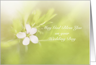 Floral God Bless Your Wedding card