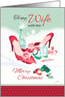 Christmas to Wife - Ladies Shoes with Perfume in Snow card