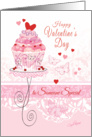 Valentine's Day for Someone Special - Cupcake on Stand card
