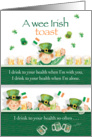 St. Patrick's Day Irish Toast - Cute Little Guy Has One Too Many card