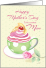 Mother's Day for Mom - Cup of Cupcake with Rose card