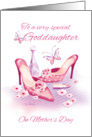 Goddaughter, Mother's Day - Pink Shoes and Perfume card