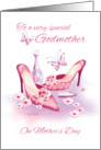 Godmother, Mother's Day - Pink Shoes and Perfume card