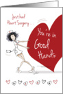 Heart Surgery, Get Well - Funny Nurse with Large Heart card