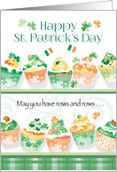 Happy St. Patrick's Day - Cupcakes in Irish Colours card