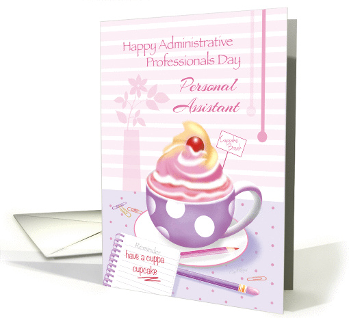 Personal Assistant, Admin Pro Day - Cup of Cupcake card (1264042)