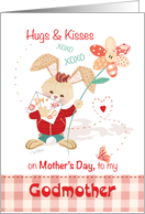 Godmother, Mother's Day from Young Godson - Cute Bunny &Flower card