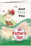 Father's Day, - Golfing Teddy at Bunker card