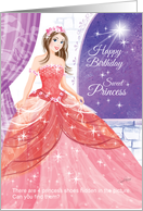 Birthday Princess, Find Her Shoes - Princess in Ball Gown, Activity card
