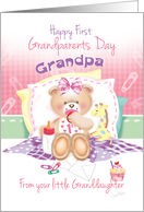 Grandpa,1st Grandparents Day, From Granddaughter -Teddy and Giraffe card