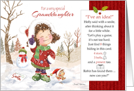 Christmas, Granddaughter. Holly Says, Find 8 things hidden. Activity card