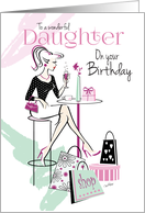 Birthday, Daughter, Shop 'til you Drop, Relax and Unwind card