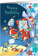 Out of this world, Robots, Boy, 7 Today card