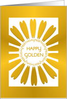 Golden Birthday Card With Golden 'look' Floral Design card