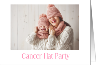 Cancer Support Party Invitation For Child With Cancer Wear Hat card