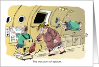 Amusing out of this world birthday greeting cartoon card