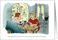Amusing dating invitation - be my date cartoon card