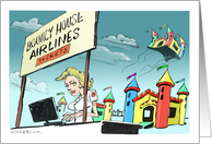 Amusing Bouncy House coming home announcement card