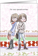 Two Mother's Day for Two Special Women card
