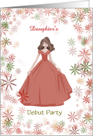 Female Debut Party Invitation card