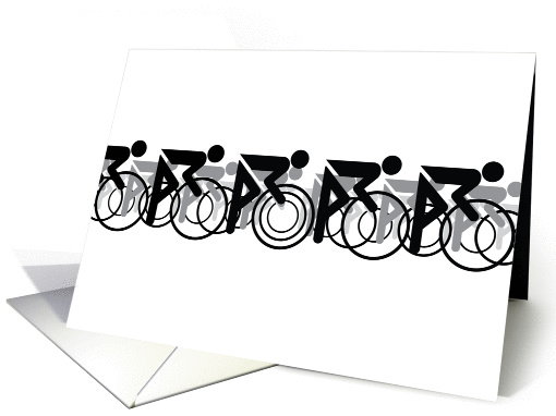 The Bicycle Race II Black On White card (1379974)