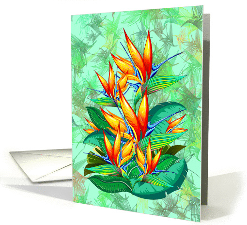 Bird of Paradise Flower Exotic Nature card (1463232)