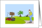 Gardening Bland Note Cards, Funny Gardener Cartoon card