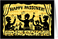 Happy Passover - family silhouette card