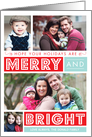 Bold Merry & Bright Holiday Photo Card