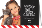 Mewy Christmas Holiday Photo Card
