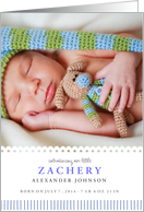 Sweet Dreams Birth Announcement card