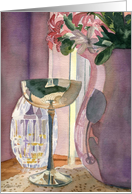 Silver and Glass Still Life All Occasion Note card