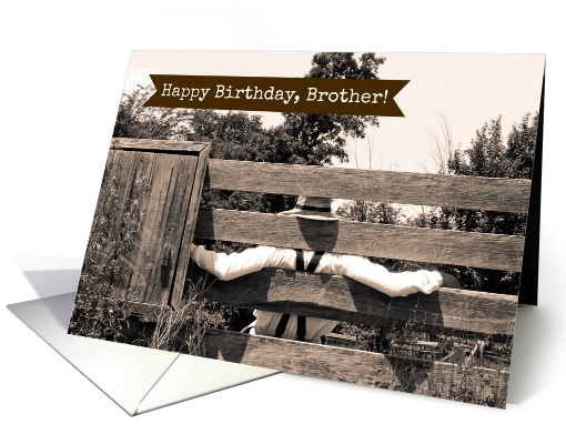 For Brother on his Birthday -- Country Theme card (1213502)