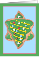Jewish Humor Christmas Tree Cookies Star David Interfaith Holiday Card